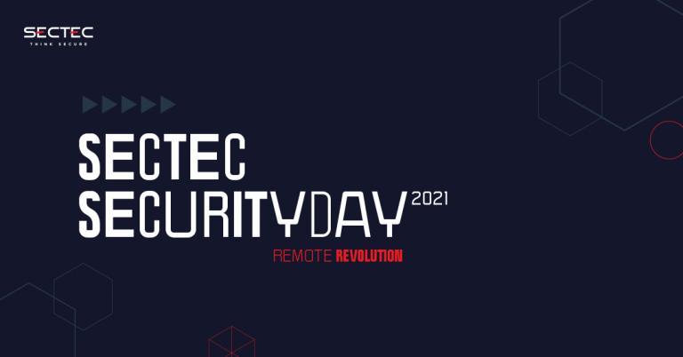 """Týka sa každého z nás – """"Remote Revolution"""" na live konferencii SecTec Security Day 2021!"""